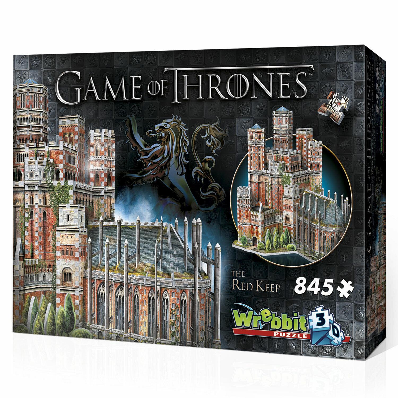 Rouge Donjon-Game of Thrones, 3 D Puzzle, 845 Pièces, V. Wrebbit (34549 nouveau