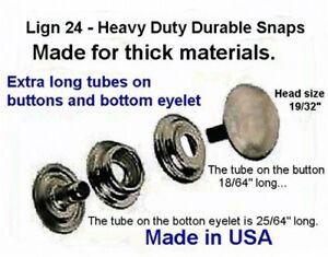 Details about 10 sets Nickel HEAVY DUTY for THICK materials LEATHER SNAPS  FASTENERS W/TOOLS