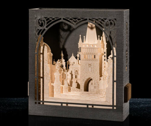 3D pop up greeting card, Pohlednice Karlův most v Praze, Czech republic