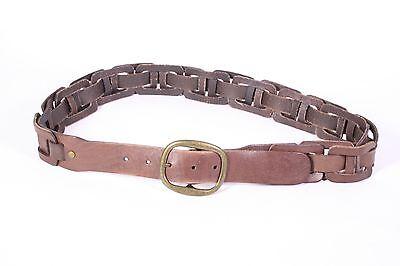Responsabile G179 Cintura Unisex Flechtgürtel Marrone Pelle 95 - 100 Cm Pantaloni Cintura Braided Belt-mostra Il Titolo Originale Comodo E Facile Da Indossare