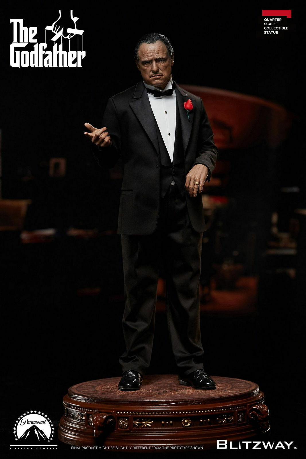 Blitzway 1 4 BW-SS-20301 The Godfather 1972 Ver Vito Corleone Statue Pres-ale