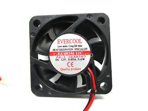 EVERCOOL-EC4010L12C-Ball-bearing-cooling-fan-DC12V-0-05A-40-40-10mm-2wire