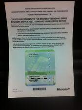 5 Device CALs für Microsoft Small Business Server 2003 (SBS) mit MWST-Rechnung