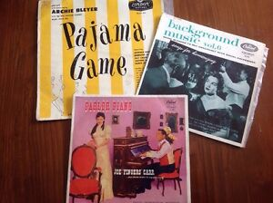 RECORD-ALBUMS-ARCHIE-BLEYER-PAJAMA-GAME-PARLOR-PIANO-JOE-FINGERS-CARR-CAPITOL