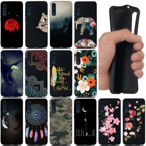 Pour-Huawei-P8-P9-P10-P20-LITE-NOIR-Antichoc-en-silicone-souple-peint-TPU-Housse