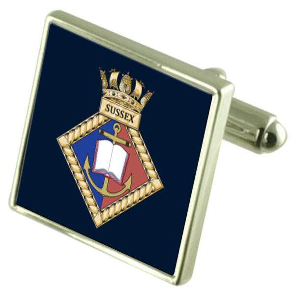 Royal Navy Sussex Manschettenknöpfe Perfekte Verarbeitung