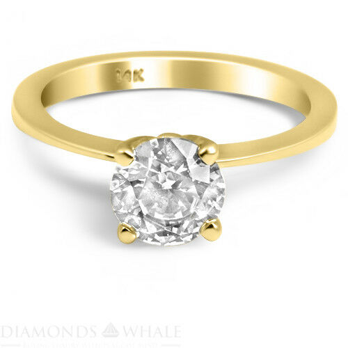 Round Solitaire Enhanced Diamond Ring 0.4 CT VS2 D Yellow gold 18K Engagement