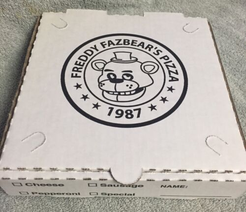 FIVE NIGHTS AT FREDDY/'S Authentic Pizza box FNAF  Sturdy NOT FLIMSY Box