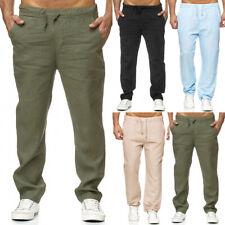 Herren Sommer Locker Einfarbig Lange Hose Yoga Kordelzug Elastisch Thai Hose