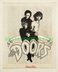 THE-DOORS-ORIGINAL-ART-JIM-MORRISON-COMIC-ART-CONCERT-POSTER-BILL-GRAHAM-COMICS