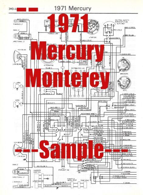 1971 Mercury Monterey Full Car Wiring Diagram  High