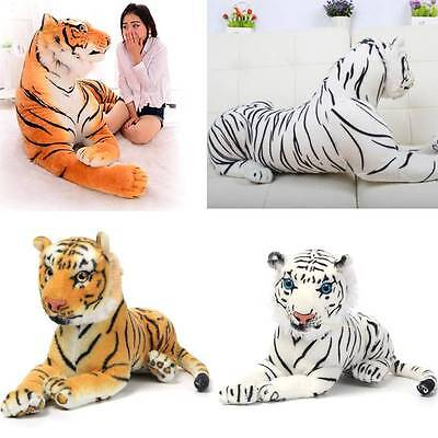 30CM Yellow White Artificial Tiger Animal Soft Cuddly Plush Toy Doll Children