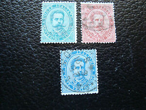 Italy-Stamp-Yvert-and-Tellier-N-33-34-35-Obl-A23-Stamp-Italy