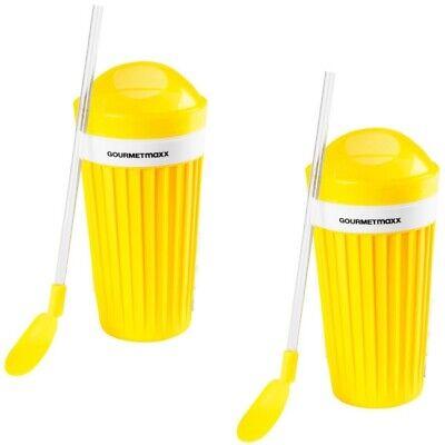 GOURMETmaxx Slush-Eis-Becher Slush-Eis Ice selbstgemacht Eisbecher Slusheis gelb