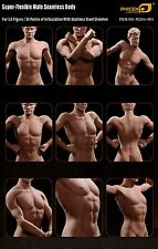 "Phicen 1/6 Scale 12"" Super Flexible Seamless Male Body Doll Figure Tall M31 NEW"