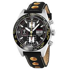 Tissot PRS 516 Black Dial Leather Strap Chronograph Automatic Watch T91142781