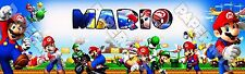 "Super Mario Poster 30"" x 8.5"" Custom Name Painting Printing"