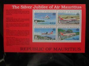MAURITIUS-1993-AIR-MAURITIUS-SILVER-JUBILEE-4v-MINIATURE-SHEET-MNH-MINT