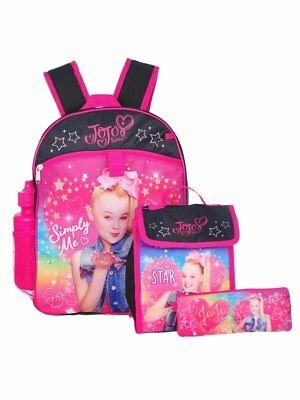 "Apprehensive Jojo Siwa Niña 16"" Backpack Y Espalda Al Colegio Essentials 5 Piezas Set To Be Distributed All Over The World Clothing, Shoes & Accessories Backpacks & Bags"