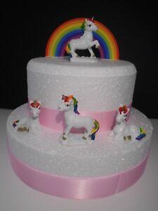 Rainbow & unicorn birthday cake topper / cake decoration mini ...