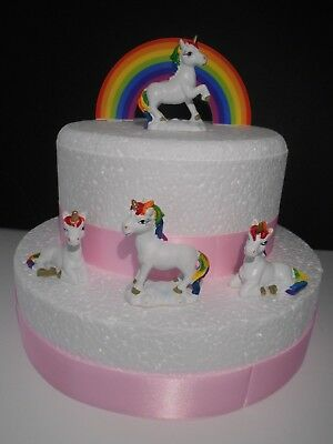 Super Rainbow Unicorn Birthday Cake Topper Cake Decoration Mini Funny Birthday Cards Online Unhofree Goldxyz