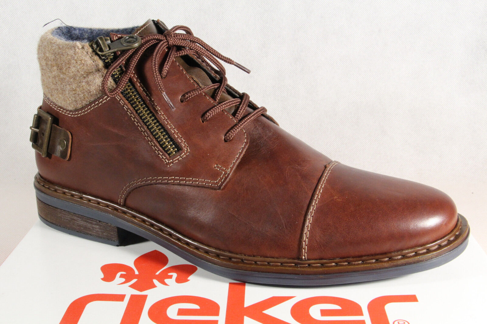 Rieker Men's Ankle Boots Ankle Boots Real Leather 37632 Brown New