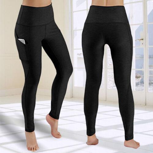 Women Gym Anti-Cellulite Leggings Yoga Pants High Waist Fitness Sports Trousers