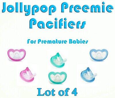 Pack of 2 JOLLYPOP Pacifier Preemie Premature Baby Size Teal Item# JP1304