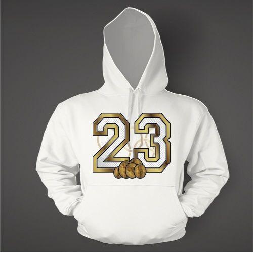 23 Hoodie to Match AIR JORDAN 5 Gold Dollar Schuhe Graphic Hoodie Pullover