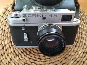 Zorki-4K-35mm-film-camera-with-clean-Jupiter-lens-No-damage-but-shutter-fault