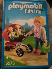 Pram Pushchair for Babies Park House City Life NEW Playmobil Twin Double Buggy