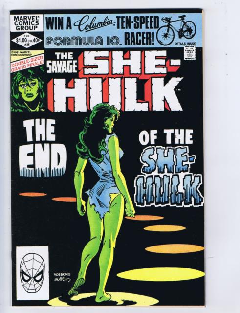 Savage She-Hulk #25 Marvel 1982 Transmutations ! Last issue !