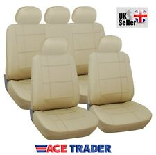 LEXUS RX450H LUXURY BEIGE LEATHER LOOK SEAT COVER SET