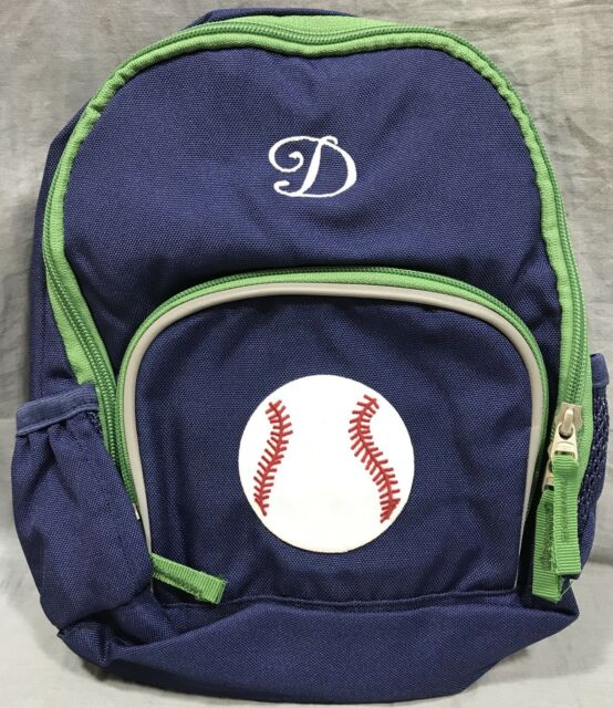 Pottery Barn Kids Navy Green Solid Fairfax Pre K Backpack