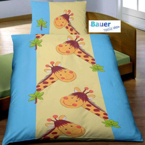 Baby Bettwäsche 100x135 cm Giraffe türkis BIBER B Ware