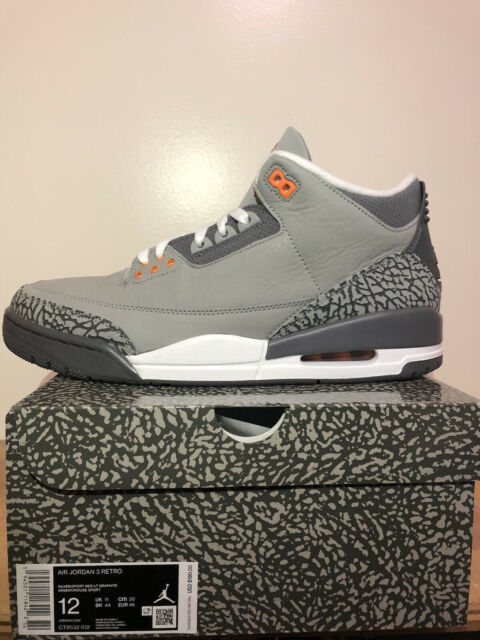 2021 Nike Air Jordan 3 Retro Cool Grey Size 12 - Brand New - Cool Grey 3