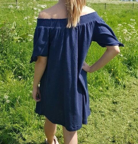 WHITE CUTE OFF THE SHOULDER PERFECT HOLIDAY DRESS XS-S-M-L-XL BNWOT ROXY BLUE