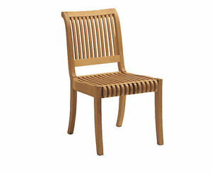 Grade A Teak Wood Armless Dining Chair Model Lagos #WFDCALLG