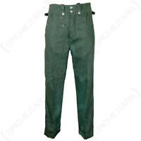 German Army Summer Hbt Drill Trousers All Sizes Ww2 Repro M40 Green Combat Pants
