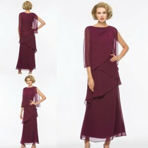 8dc0dff89c59 Elegant Wine Red Mother Of the Bride Dresses Chiffon Sleeveless Long ...