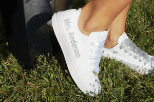 Bridal Details Zu Wedding Personalized For BrideSneakers Personalised Converse Trainers KuFc3T5l1J