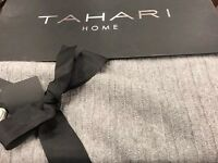 Tahari Home 100% Cashmere Collection 50 X 60 Grey Stripe Throw Free Shipping