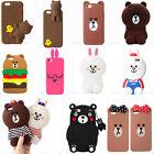 Cute 3D Cartoon Bear Rabbit Kawaii Soft Silicone Case Cover For Various Phone