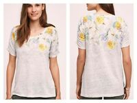 Anthropologie - Meadow Rue -beach Blossom Tee Top - Size L -
