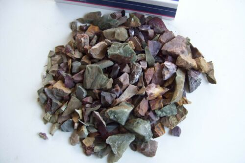 6 lbs Agate Africa Mozambique  African Rough Tiny Slices Bits Tumble Mix #5