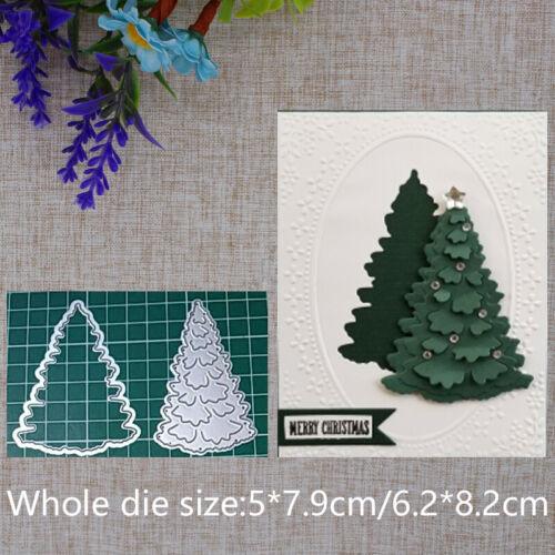 Christmas Tree Metal Cutting Dies Stencil Craft Scrapbooking Embossing Cards DIY