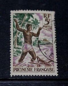 FRENCH-POLYNESIA-1958-5F-SPEARFISHING-FINE-F-U