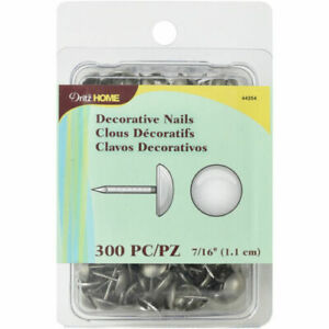 "Dritz Home Upholstery Decorative Nails 7//16/"" 300//Pkg-Antique Brass Hammered Nail"