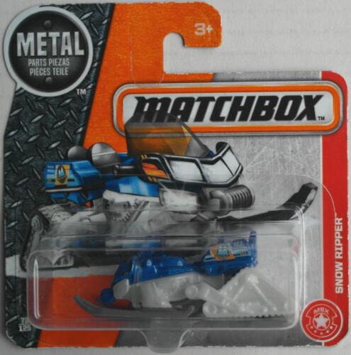 Matchbox Snow Ripper Schneemobil blaumetallic/weiß/grau Neu/OVP Snowmobile MBX