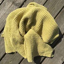 Handtuch Badetuch Saunatuch Stonewashed 110x160 Leinen Waffelpique Limettengelb